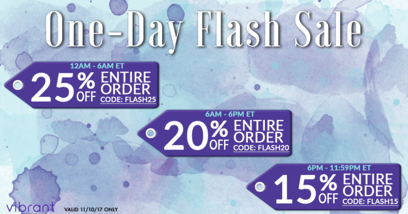 Vibrant Flash Sale on the 10th!